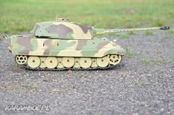 Czołg 1:16 German King Tiger wieża Henschel 2.4GHz