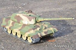 Czołg 1:16 German King Tiger wieża Henschel - PRO stal 2.4GHz